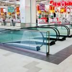 balustrada de sticla spatiu comercial