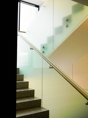 balustrada sticla mata