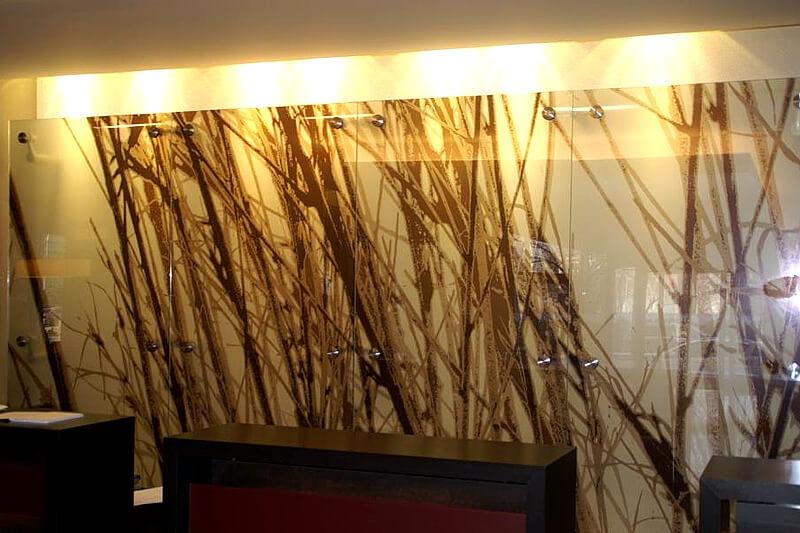 Placare sticla ornamentala