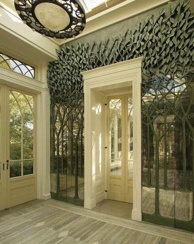 decorarea peretilor cu sticla