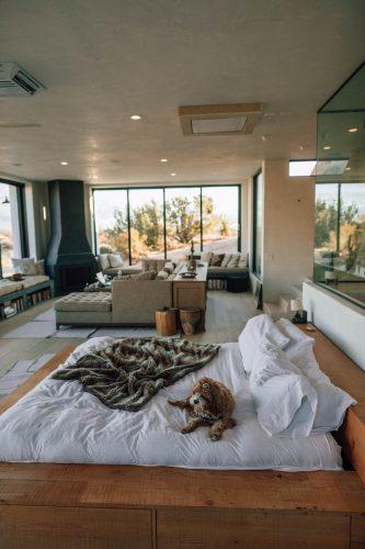 apartament cu pereti interiori si exteriori din sticla