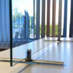 paravan protectie sticla pentru birou